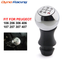 цены на 5 Speed Car MT Gear Shift Knob Lever Shifter Handle Stick For Peugeot 106 206 306 406 107 207 307 407 BX101577  в интернет-магазинах