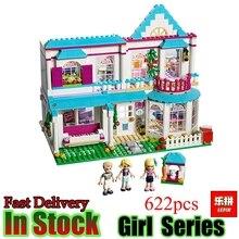 Лепин 01014 друг 622 шт. в дом Стефани комплект из натуральной хорошие девочки образования строительных блоков Кирпичи детей игрушки 41314