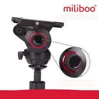 miliboo MYT803 Base Flat Fluid Head with 75mm Bowl Size Upgraded Adjustable Damping Design for Camera Tripod/Monopod Stand
