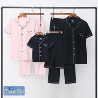 Baby Girl Pyjamas Family Matching Clothes Mother Father Son Daughter Baby T Shirts+ Pants Mum Girls Pajamas Elegant Evening Sets
