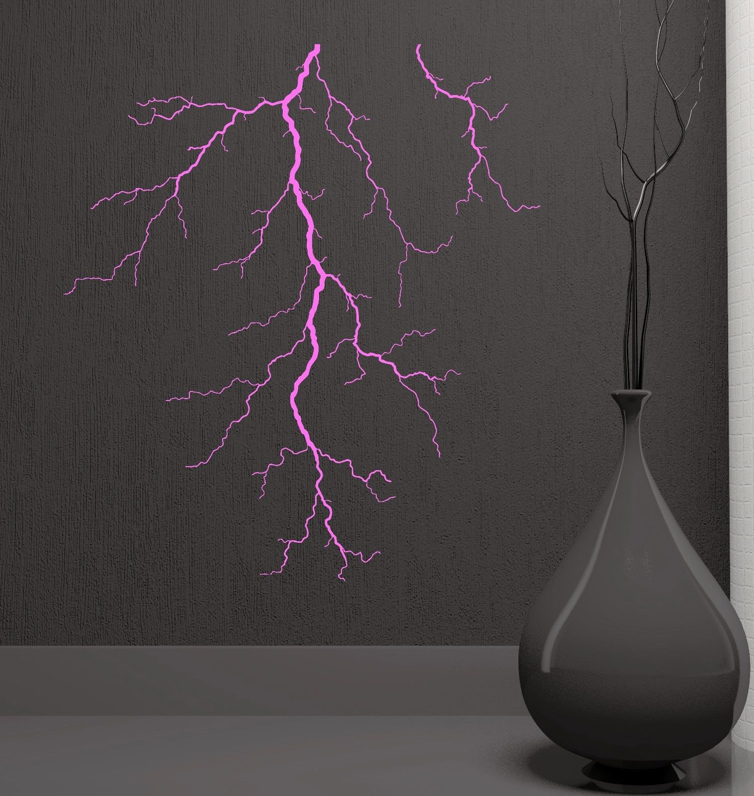 wall decal family art bedroom decor new wall decal lightning crack beautiful room decor art vinyl stickers free shipping