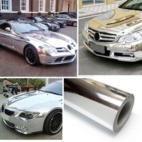 chrome film vinyl covering film car Chrome wrap car vehicle film for car vinyl wrap body sticker vinyl 15 *152cm