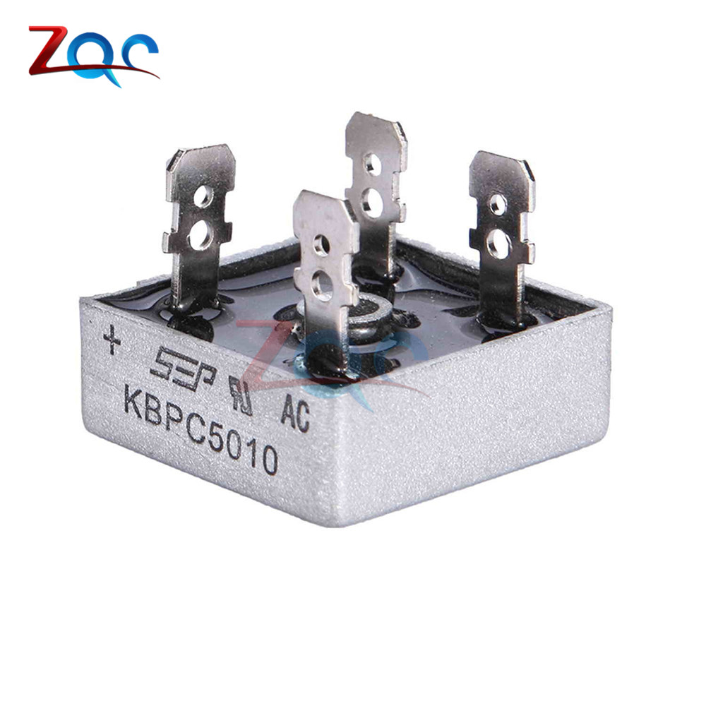 2Pcs KBPC5010 50A 1000V AC Bridge Rectifier Metal Case Single Phases Diode  Bridge Rectifier-in Power Tool Accessories from Tools on Aliexpress.com |  Alibaba ...