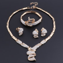 OEOEOS Jewelry Sets For Women Nigerian Necklace African Beads Jewelry Set  Gold Color Wedding Luxury Dubai Jewelry Sets luxury dubai jewelry sets women crystal gold wedding accessories flower necklace wedding african beads jewelry set costume