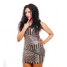 HCDIVA Hair Peruvian Deep Wave Non-remy Human Hair Weaveing 100% Human Hair Bundles 10inch -28 inch Natural black