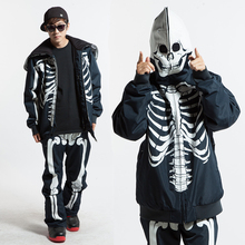 2016 Novel ski suit men waterproof skull snowboard jacket men ski jacket+snowboard pant winter suit male snow ski skiing sets