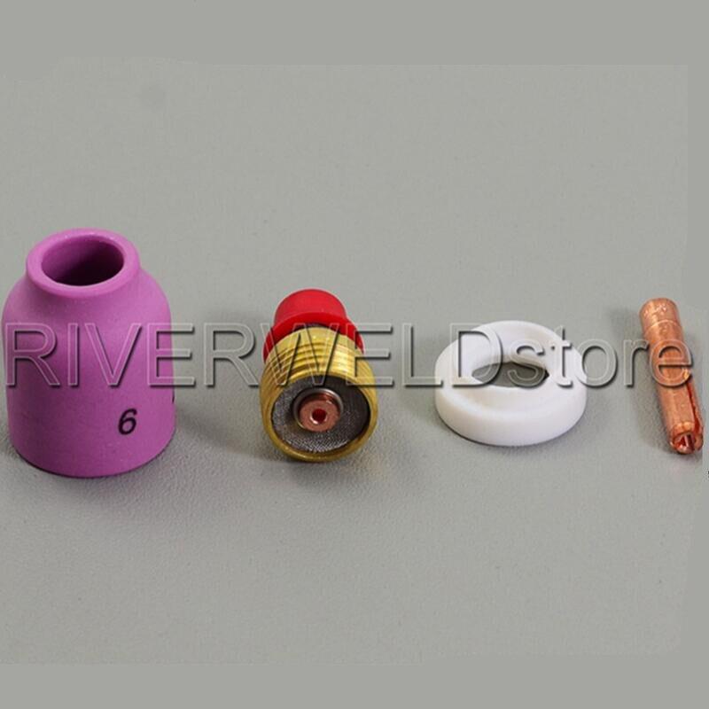 TIG Nozzle Gas Lens Collet Body KIT 1/16
