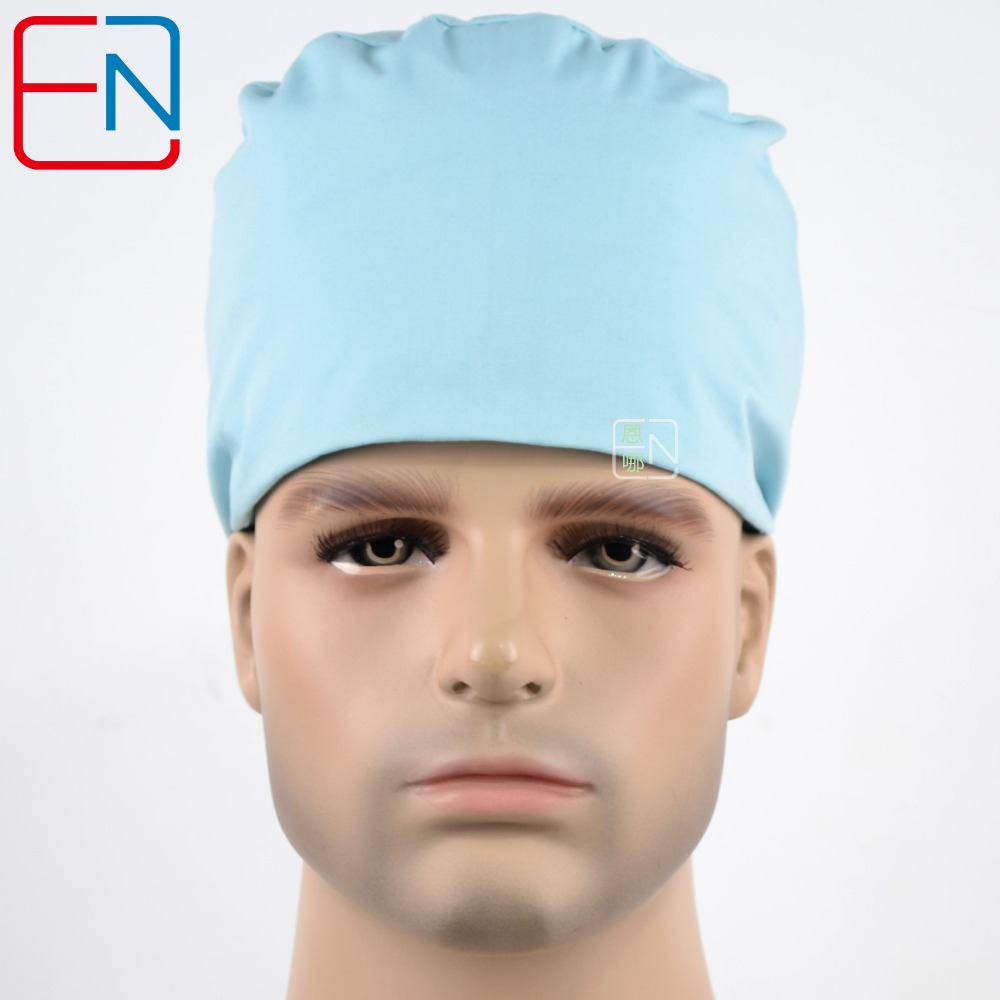 Hennar Мужская хирургическая Шапки в светло-серый синий t/c устойчивы к хлору отбеливания