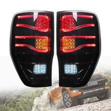 2 шт для Ford Ranger 2012-2018 Копченый авто светодиодный сзади задние стоп-сигнальные фонари лампы лампа из abs-пластика Размеры приблизительно 27 х 43 см