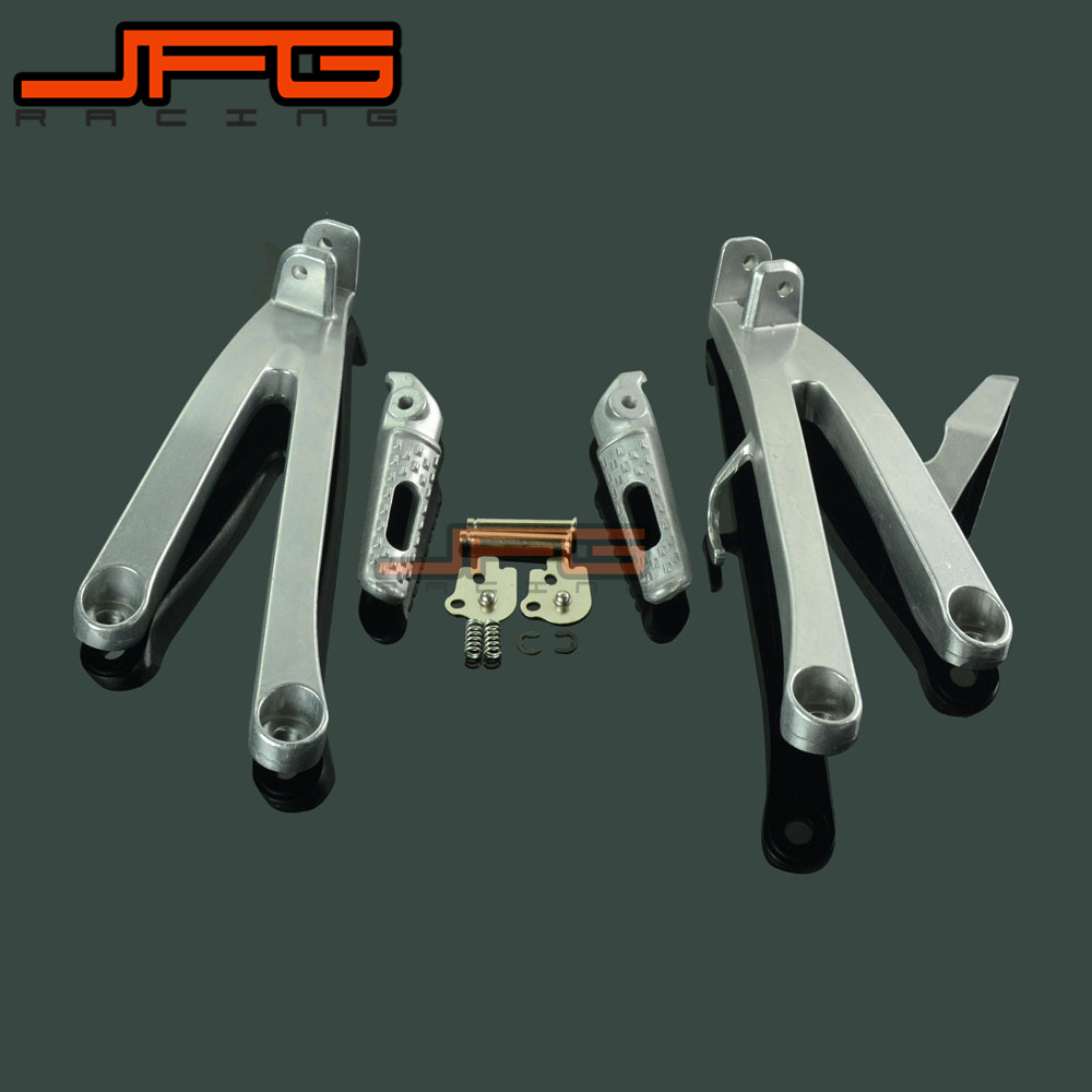 Footrests Rear Foot Pegs Pedals Rest Footpegs For HONDA CBR600RR CBR 600 RR 600RR 2007 2008