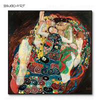 Reproduction Famous Artwork Vienna Secession Virgin Oil Painting Hand painted Gustav Klimt Virgin Oil Painting for Wall Decor