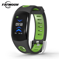 FATMOON DM11 Smart Bracelet 0.96'' OLED 3D UI Fitness Heart Rate Tracker Media Message Display Women Men Sports Smart Wristband