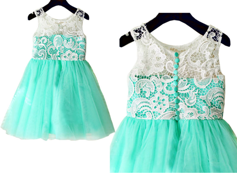 ФОТО 2016 Lace Flower Girls Dresses For Wedding Gowns Free Shipping Girl Birthday Party Dress  First Communion Dresses for Girls