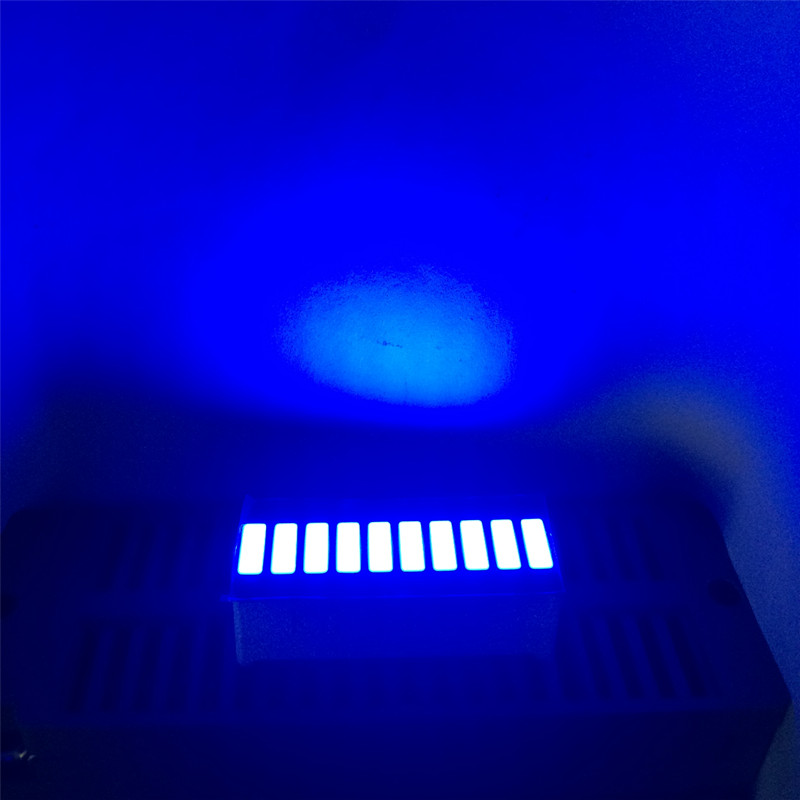 5pcs LED Bargraph Blue 10Bar Display Numbers Programmable LED Signs Cube Screens Blue 10Segment Graphic Bar Graph Module Board