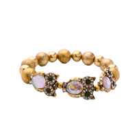 Chic CCB Stretchy Owl Bracelet Brand New High Quality Ladies Beads Bracelet Handmade Accessories
