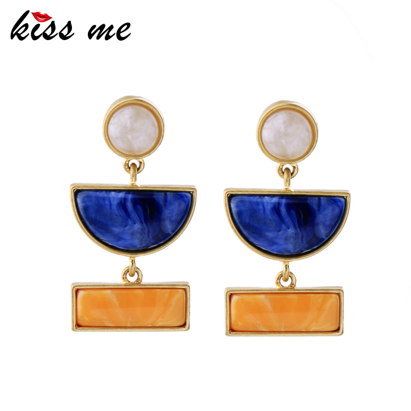 KISS ME New Statement Earrings Fashion Jewelry Alloy Resin Women Accessories Birthday Gifts