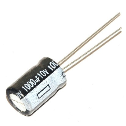 20P / LOT 1000UF / <font><b>10V</b></font> volume 8 * 12MM <font><b>1000</b></font> microfarads 10 -volt line of aluminum electrolytic capacitors DIP image