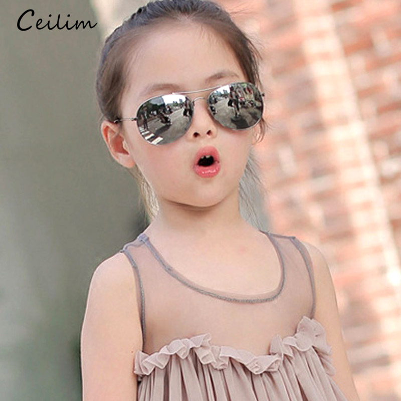 2019 Kids Solbriller for Barn Mote Gutter Jenter Baby Child 90s Solbriller Goggles Infant UV400 Lunette de soleil Enfant