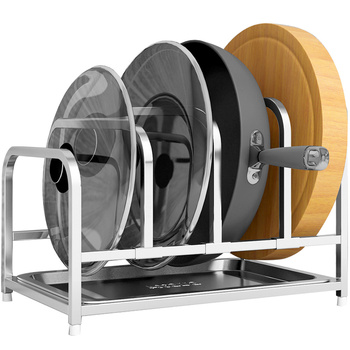 304 stainless steel Telescopic storage rack pot cover sitting plate drain shelf kitchen cutting board pot storage rack wx8161155