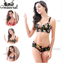 2017 Women's Bras Set Push up underwear women corset Bustier Lace Bralette Plus Size Bra Uplift bras for Women ultra boost