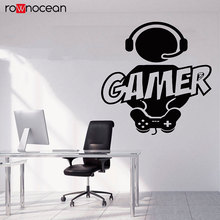 Gamer Wall Decal Controller Customized For Kids Bedroom Vinyl Art Decals Boy Guy Video Game Teen Sticker 3082