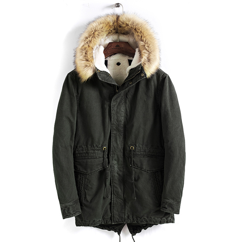 Solid Mens Winter   Parkas   2018 Warm Outwear Clothing
