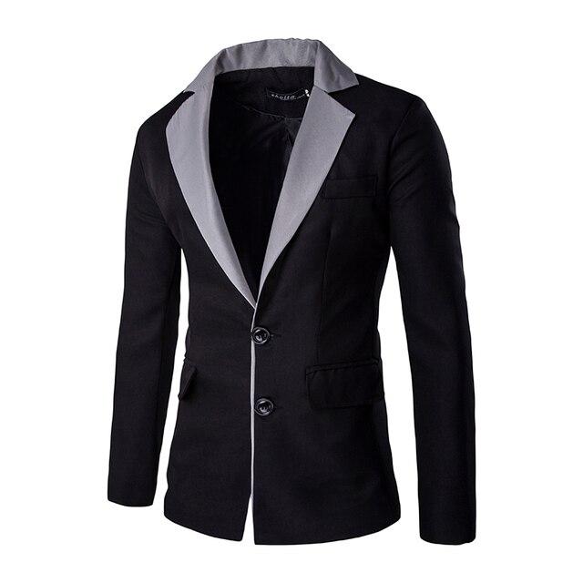 Мужская Blazer Куртки 2016 Мода Новый Тонкий С Длинным Рукавом Лоскутная Мужчины Blazer Двойной Кнопка Мужские Случайные Старинные Цветочные Пиджаки X56
