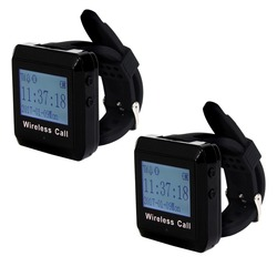 2pcs 433MHz Restaurant Wireless Calling System Watch Receiver Waiter Call Pager Restaurant Equipment F3258