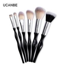 UCANBE Brand 6pcs Beginner Soft Makeup Brushes Tool Synthetic Hair Foundation Powder Blush Eye Shadow Eyebrow Brushes Set Kit