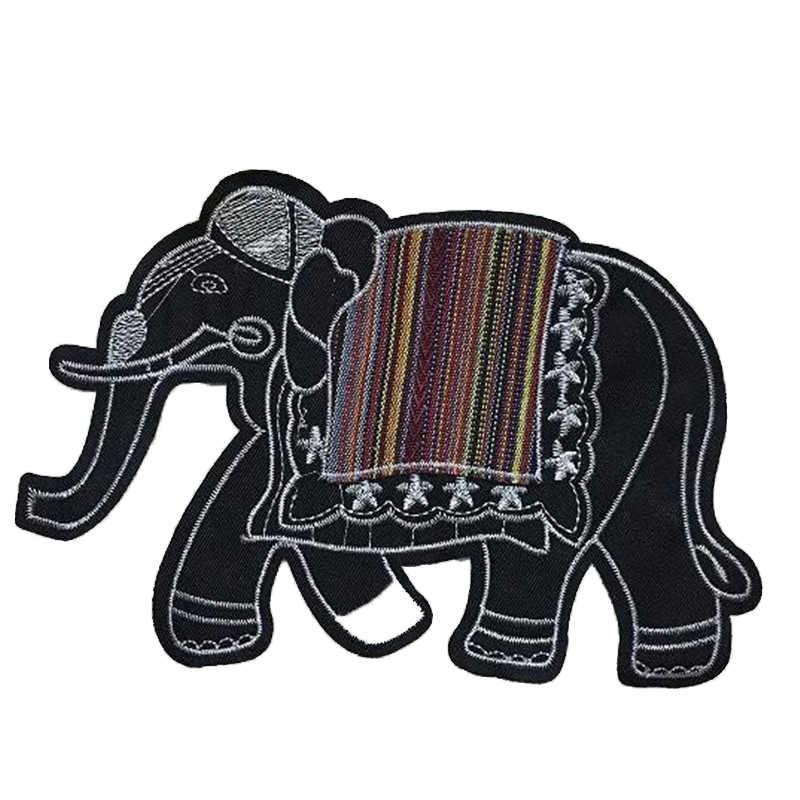 Одежда для девочек детский значок с вышивкой и вставками слон дело с ним футболка Женские нашивки в виде животных для одежды apliques 3D наклейки