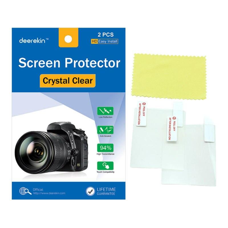 2x Deerekin LCD Screen Protector Protective Film For Sony Alpha A6600 A6500 A6400 A6300 A6100 A6000 A5100 A5000 A3000 Camera