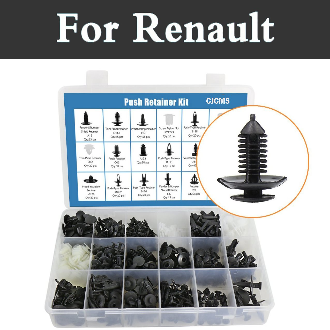 Auto Fastener & Clip Back To Search Resultsautomobiles & Motorcycles Just 415pcs Car Plastic Rivets Fasteners Plastic Storage Case Rivets For Renault Sandero Symbol Talisman Twingo Twizy Vel Satis Wind Can Be Repeatedly Remolded.