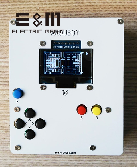 Arduboy Open Source Programmable Console de jeu de poche kit de bricolage avec duino Leonardo pilote batterie USB nostalgique