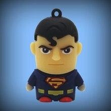 3D Cartoon Mini Usb Flash Drive 1TB Pen Drive 2TB Superman Pendrive 64gb 8gb 16gb 32gb Gadget Usb Memeory Stick Disk On Key Gift