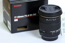 Genuino Sigma 17-50mm F2.8 EX DC HSM OS Lente Para Canon