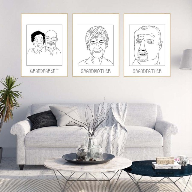 Various Expressions Abstract Portrait Painting Canvas Art Print ...