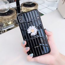 Cute Daisy Print Phone Case For iPhone 7 8 6 6S Plus X XR XS MAX Trunk Suitcase Back Cover IMD Cases Coque Soft TPU Silicone цена и фото