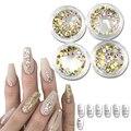 1 Garrafa Micro SS3-SS12 Shinning Ouro AB Strass Unhas De Cristal Apartamento de Volta Dicas Etiqueta Decorações Nail Art DIY Telefone NJ245