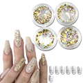 1Bottle Micro SS3-SS12 Gold AB Rhinestones Nails Crystal Flat Back Shinning Tips Sticker Nail Art Decorations DIY Phone NJ245