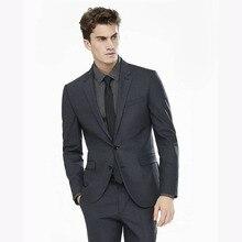 2017 Charcoal Men Wedding Suits new Groomsmen terno masculino Party Custom Groom Tuxedo Elegant Mens Suit Blazer (Jackets+Pants)