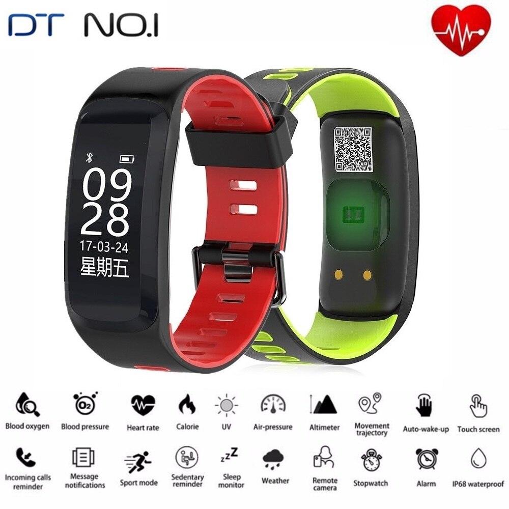 DTNO.1 F4 Bracelets À Puce Bluetooth 4.2 Fitness Tracker Activité Tracker Sang Pression D'oxygène Étanche Sport Bracelet À Puce