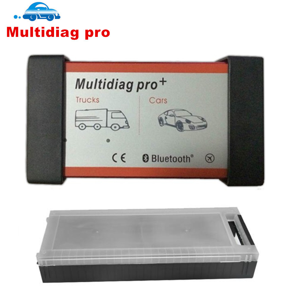 Multidiag Pro + Bluetooth With Plastic Box Diagnostic Tool vd tcs cdp pro plus OBDII