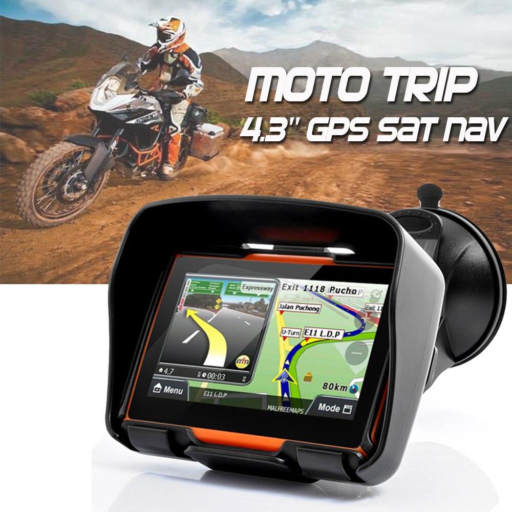 Новое обновление 256 м оперативной памяти 8 ГБ flash 4.3 дюймов Moto GPS навигатор водонепроницаемый мотоцикла gps-навигации Бесплатная карты