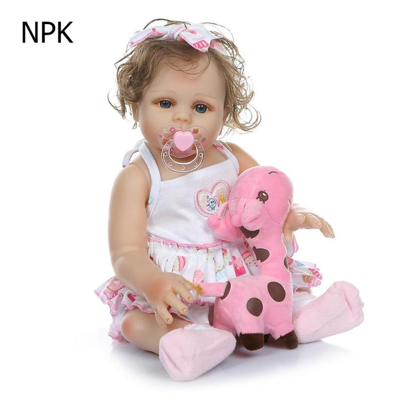 Lovely Vinyl Reborn Baby Lifelike Simulation Girl Doll Toys Kids PlaymateLovely Vinyl Reborn Baby Lifelike Simulation Girl Doll Toys Kids Playmate