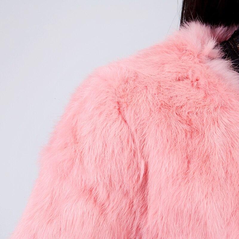 Plus 4 Court La De Rabbit 2018 Nouveau 6xl 2 Taille Complet Automne 5 Survêtement Manteau Pelt Femmes 1 Hiver 3 Veste Mince S Fourrure Naturelle Vêtements CXwSnTaq