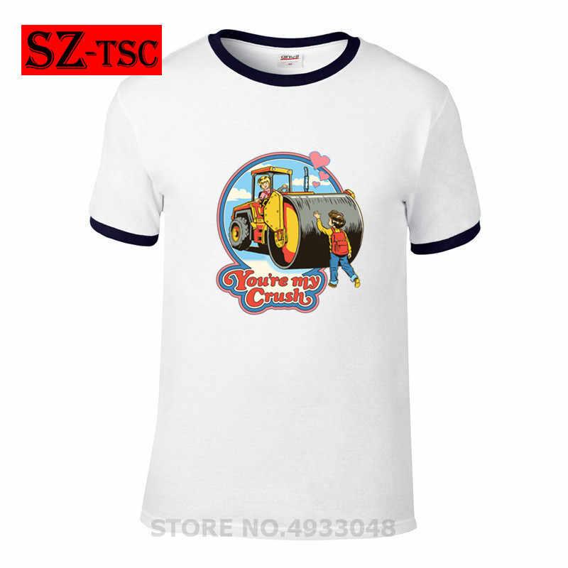 2019 Mới Hợp Thời Trang Người Đàn Ông T Áo Sơ Mi Quỷ Triệu Tập Bạn đang Của Tôi Lòng In Tees mùa hè thường 100% cotton chất lượng cao t-shirt #256