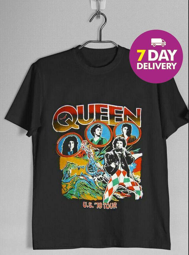 Camiseta reina Tour/'80 Negro para Hombre