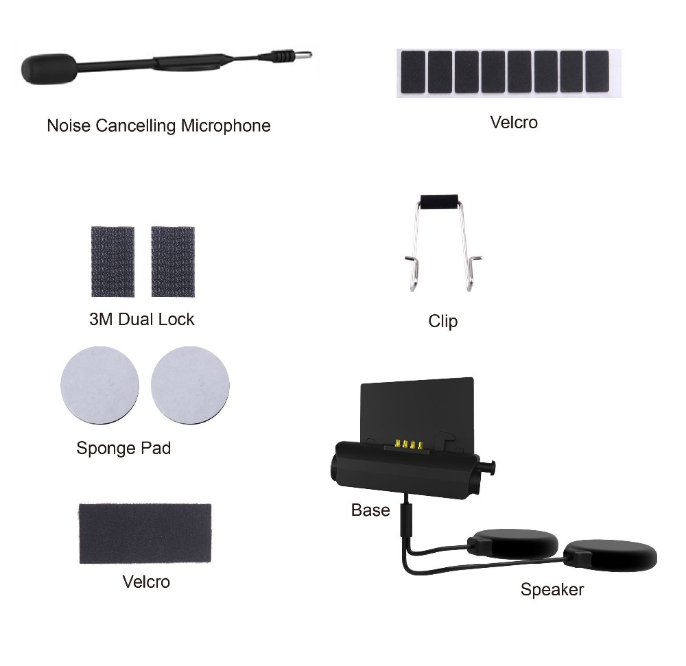Audio & Mic Kit For MORNYSTAR R2  Helmet Headset Base Microphone Accessories