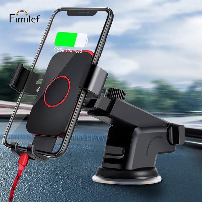 Fimilef pare-brise gravité ventouse Voiture Support pour téléphone pour iPhone X Support pour téléphone dans la Voiture Support Mobile Smartphone Voiture Support