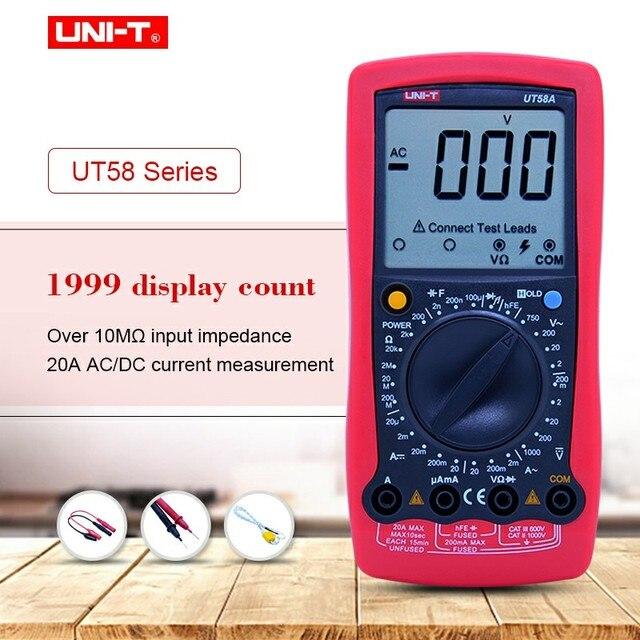 Uni T Ut58a Ut58b Ut58c Ut58d Ut58e Digital Multimeter Ammeter